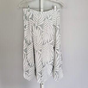 REISS Embroidered Midi Skirt Like New Sz 2